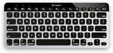 Logitech Bluetooth® Easy-Switch Teclado para móvil AZERTY Francés Negro, Blanco - Teclados para móviles (AZERTY, Francés, Mini, iPad, iPad 2/3/4, iPad ...