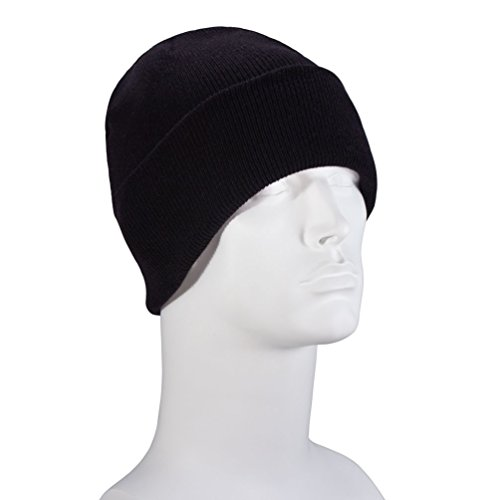 USA Made Black Classic Ski Hat - Single - Skull Cap Classic