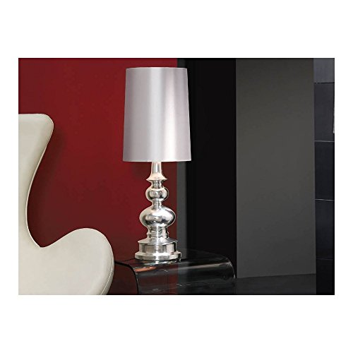Schuller Spain 663229I4L Modern Silver Shade Table Lamp White 1 Light Living Room, bed room, Study, Bedroom LED, Silver shade Silver Table Lamp | ideas4lighting by Schuller