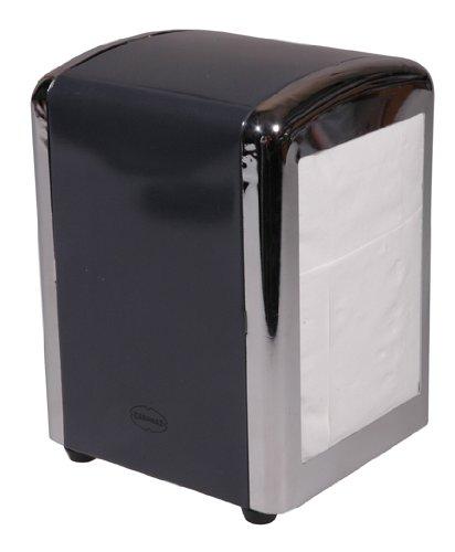 Cabanaz Diner Table Top 250 Tissue Napkin Dispenser Dark Charcoal Grey 1201353
