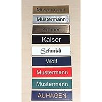 1 stuk deurbel zelfklevend Made in Germany - deurplaatje naambordje brievenbus met gravure