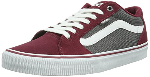 pewter Baskets cordovan M white Vans Faulkner Mode Rouge Homme xqU1YR0w