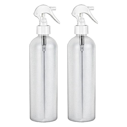 MoYo Natural Labs 8 oz Spray Bottles, Trigger Sprayer Empty Travel Containers, BPA Free HDPE Plastic for Essential Oils and Liquids/Cosmetics (Pack of 2, HDPE Translucent White)