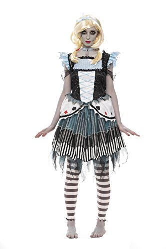 Zombie Alice Costumes (Halloween Adult Zombie Alice Costume Large)
