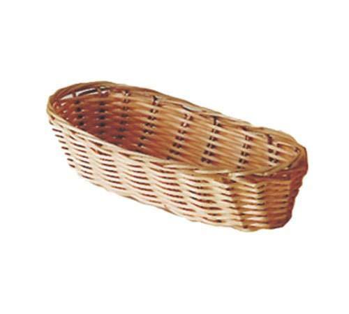 "Update International (BB-94) 9"" x 3 3/4"" Oblong Natural Color Woven Basket"