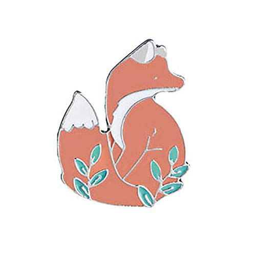 CHOROY Red Fox Brooch Pin Animal Lapel Pin The Little Prince Inspired Jewelry Fox Lover Gift (Fox Brooch)