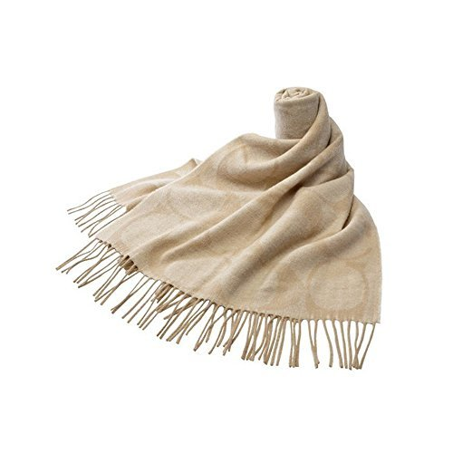 COACH Signature C Muffler Scarf (Light Grey Chalk)