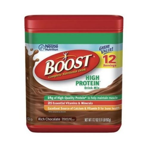 Boost Rich Chocolate High Protein Powder, 17.7 Ounce -- 6 per case. by Boost