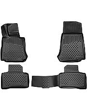WALSER rubber vloermatten compatibel met Mercedes-Benz GLC 06/2015 - Vandaag, GLC Coupe 06/2016 - Vandaag, custom-fit auto rubber matten, auto vloermatten