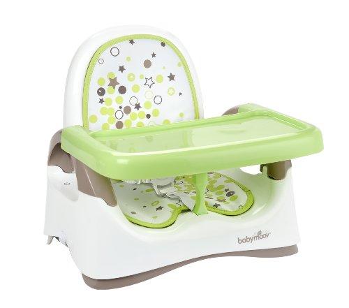 Babymoov A009006 kompakte Sitzerhöhung, braun/mandelgrün
