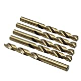 X AUTOHAUX 5pcs 10.2mm High Speed Steel Straight Shank Spiral Twist Drill Bits for Car