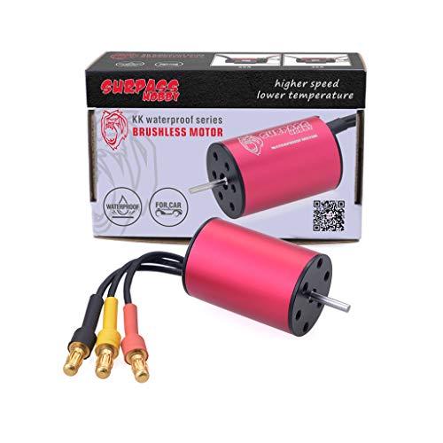 - Surpass Hobby Brushless Motor 4 Pole Sensorless Waterproof 2030 7200KV Shaft for for 1/18 1/20 Scale RC Car RC Truck