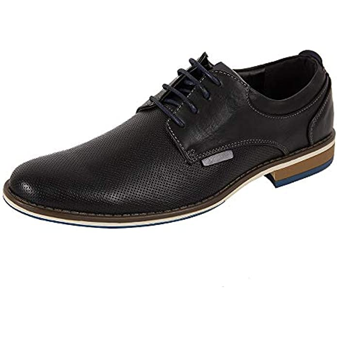 Dress Shoes for Men, Casual Leather Oxford Shoes with Lace-up Classic Formal Dress Shoes, Modern Business Walk Leather Shoes