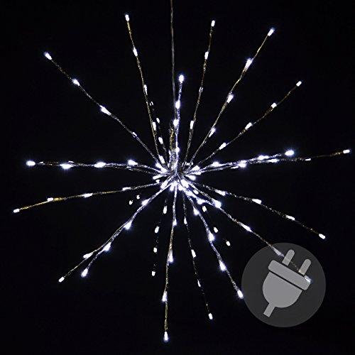 120 LED Meteor-Stern kalt-weiß Innen Außen mit Trafo Weihnachtsstern zum Aufhängen Meteorschauer