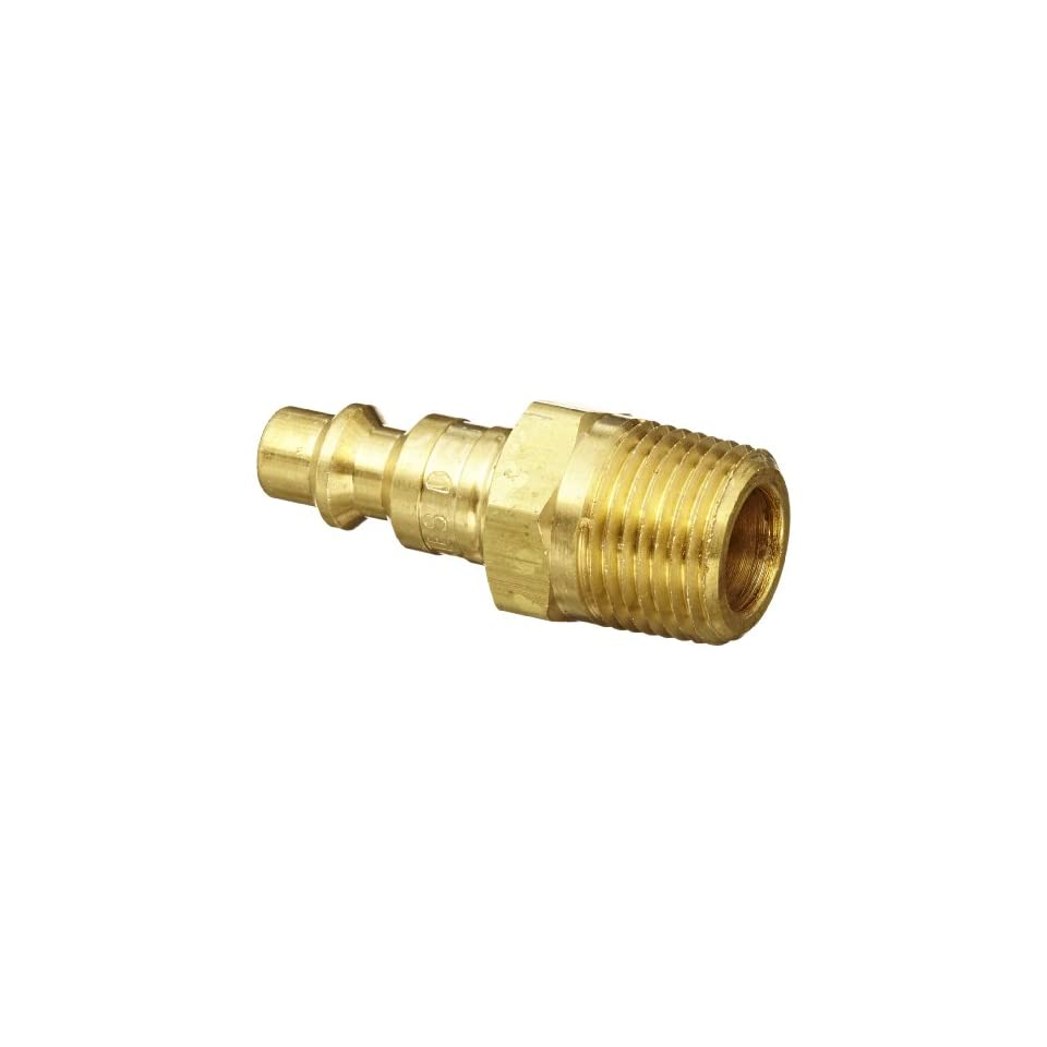 Dixon Valve DCP2103B Brass Air Chief Industrial Interchange Air Fitting, Quick Connect Plug, 1/4 Coupler x 3/8 NPT Male Thread, 37 CFM Flow Rating