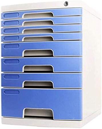 Andou Nk ファイル棚デスクトップ収納ボックスデスクトップファイルキャビネットグリーンプラスチック8層収納ボックス
