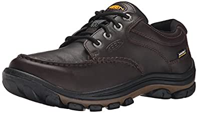 KEEN Men's Anchor Park Low WP Casual Shoe, Brown Full Grain, 7.5 M US