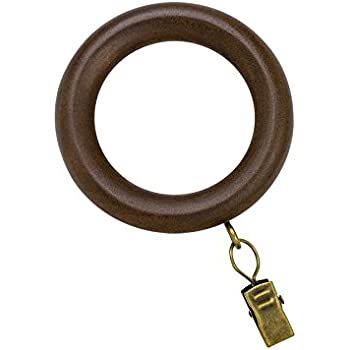 Amazon Com Allen Roth 7 Pack Clip Curtain Rings Tobacco