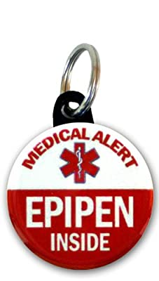 Medical Alert - EpiPen inside Bag Tag