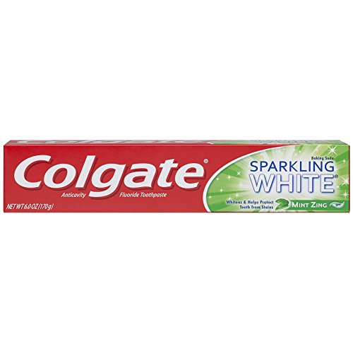 Colgate Sparkling White Whitening Toothpaste, Mint – 6 ounce