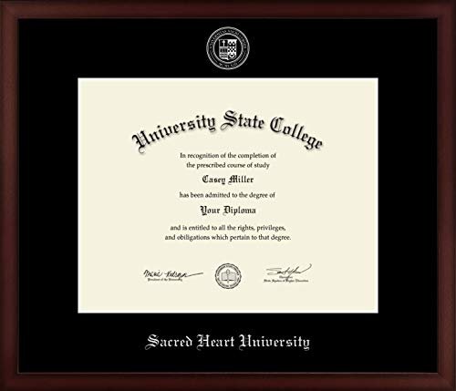 - Sacred Heart University - Officially Licensed - Silver Embossed Diploma Frame - Diploma Size 14