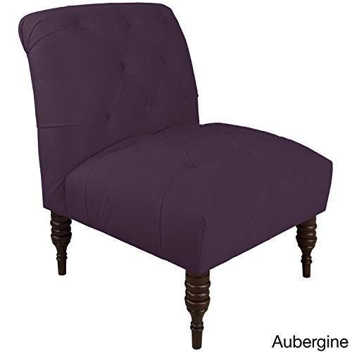 Skyline Fabric Chair (Skyline Furniture Velvet Fabric Modern Tufted Chair Purple)