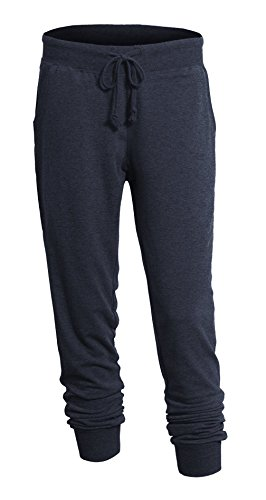 Women's Elastic Drawstring Waist Classic Lounging Jogger Pants with Pockets