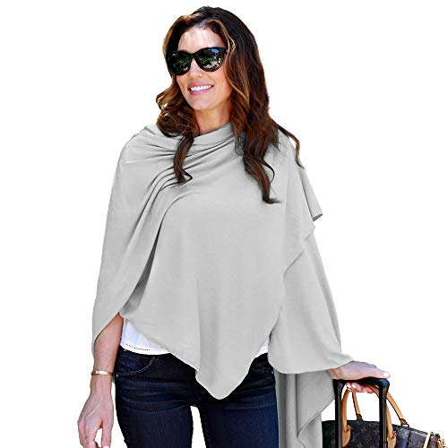 HappyLuxe Travel Wrap and Blanket, Eco Friendly Accessories for Women, Made in USA (Cool Grey) (Best Looking Women In Europe)