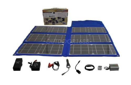 Portable Rv Solar Systems : W foldable solar charger kit portable camping