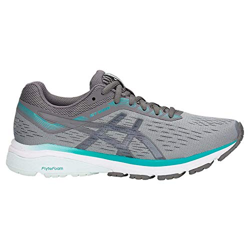 ASICS 1012A030 Women's GT-1000 7 Running Shoe, Stone Grey/Carbon,9.5 M US
