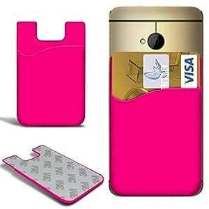 Direct-2-Your-Door - HTC One Mini 2 palillo de silicona delgada en tarjeta de crédito / débito caso de la cubierta de la ranura - Rosa