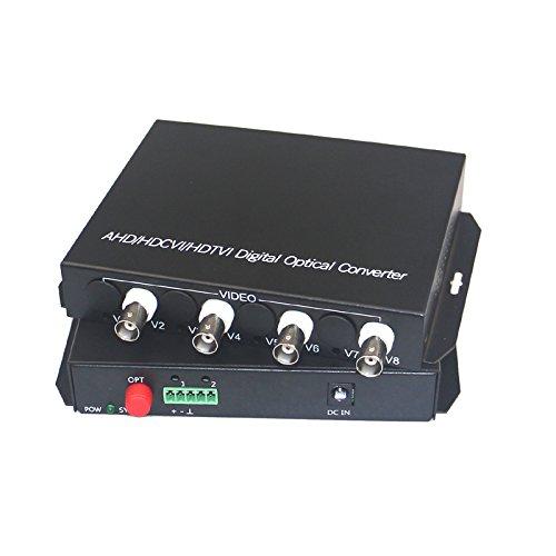 Guantai 1080P HD CVI AHD TVI 4 Channels Video Fiber Optical Media Converters,FC, Singlemode 20Km for 1080p 960p 720p AHD CVI TVI HD - Receiver Channel Video Optic Fiber