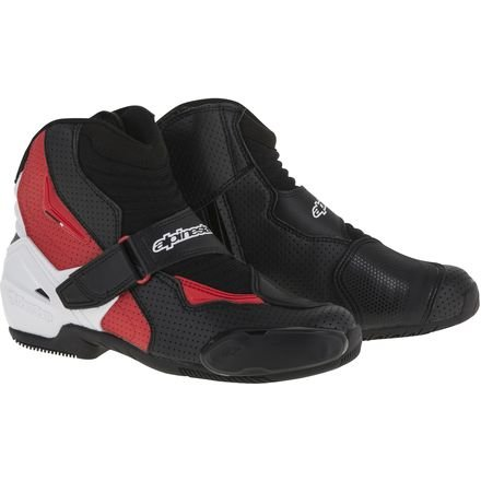 Alpinestars Smx 1 Riding Motorcycle - Alpinestars SMX-1 R Vented Boots - 12 US / 47 Euro/Black/White/Red