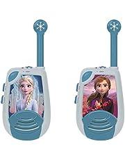 Lexibook TW25FZ Disney Frozen 2 Elsa-Digital Walkie-Talkies, 2 km Transmissiebereik, Morse Light Functie, Riemclip voor transport, Batterij, blauw