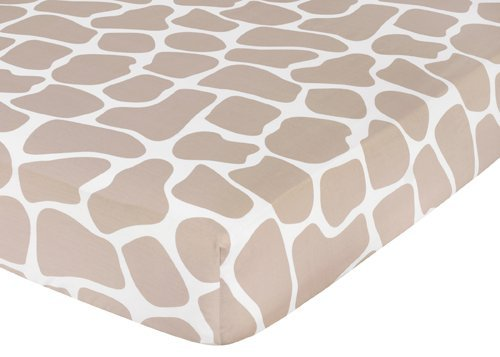 Giraffe Fitted Crib Sheet for Baby/Toddler Bedding by Sweet Jojo Designs - Animal Print