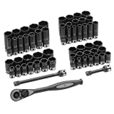 Grey Pneumatic 81659CRD 59 Pc. ''3/8'''''' Drive 6 Point 9q9eydvr SAE & Metric Duo-Socket Set ai1s941hu nikotersa2 dawzainew8 9flo23g6 Set contains all standard d5u3f84a and