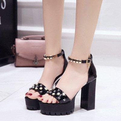 Noir Rugueuses Et Trente quatre Chaussures Impermables D't Hyperferros Pour Boucles Femmes qSff8U
