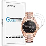 [3 Pack] Orzero For Michael Kors Bradshaw (MKT5001 MKT5013 MKT5018) Smart Watch Tempered Glass Screen Protector, 2.5D Arc Edges 9 Hardness HD Anti-Scratch Bubble Free [Lifetime Replacement Warranty]
