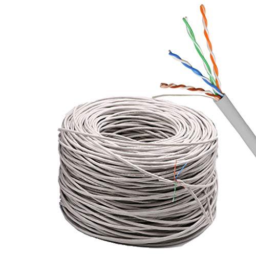 Cat 5e UTP Indoor Networking Cable 1000 Feet - Black Copper no Aluminum not CCA