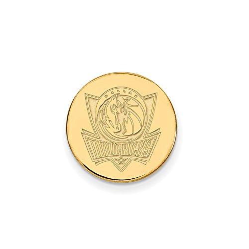 NBA Dallas Mavericks Lapel Pin in 14K Yellow Gold by LogoArt