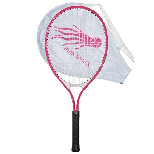 (Pink Streak Junior Tennis Racquet - Strung with Cover (19