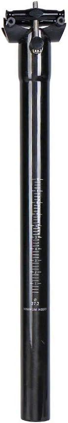 QIKU Tija de sill/ín de Fibra de Carbono Bicicleta Ultraligera 27.2//30.8//31.6 300//350 400mm