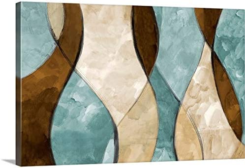Blue Lyrical I Canvas Wall Art Print
