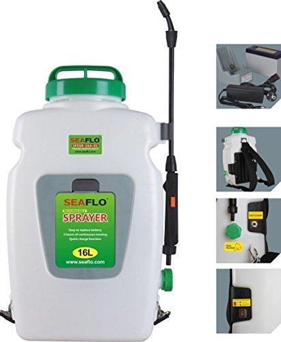 Seaflo eléctrico Agrícola - Mochila pulverizadora (16 litros con 12 V batería recargable: Amazon.es: Jardín