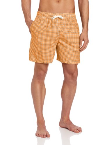 Kanu Surf Men's Monaco Swim Trunks (Regular & Extended Sizes), Orange, X-Large