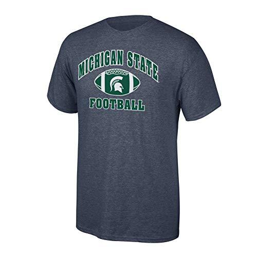 - Elite Fan Shop NCAA Men's Michigan State Spartans Football T-shirt Dark Heather Michigan State Spartans Dark Heather Small