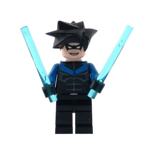Nightwing - LEGO Batman Minifigure with Batons [並行輸入品]   B01HI9HLF2
