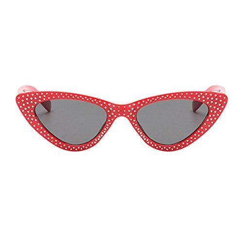 Uv400 Soleil Femmes Lens De Plastique Gris Strass Papillon Chat Vintage Cadre Pour Rouge Meijunter amp; Retro Œil Lunettes Triangle Frame EwBq66