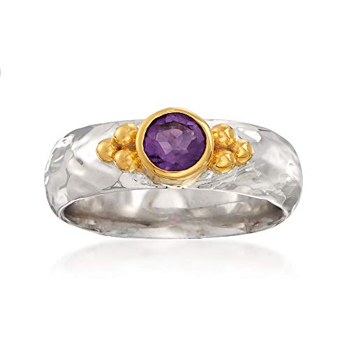 - Ross-Simons 0.40 Carat Amethyst Ring in Two-Tone Sterling Silver