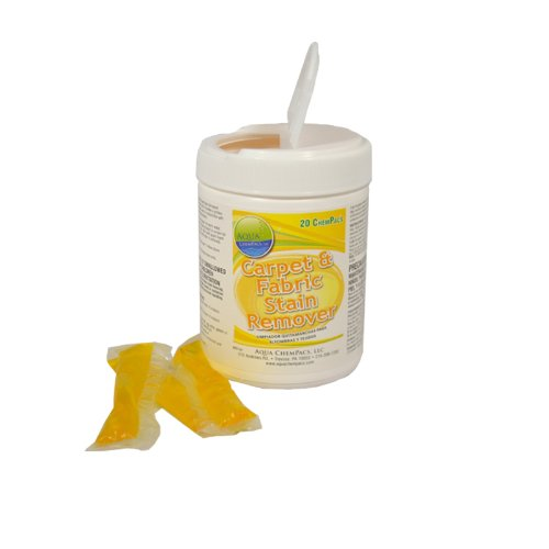 CARPET STAIN REMOVER for quarts - 20 Pacs - Jar by Aqua Chempacs